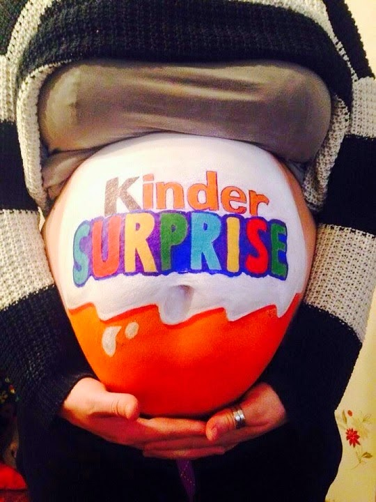 original-desenho-para-pintar-a-barriga Kinder Ovo