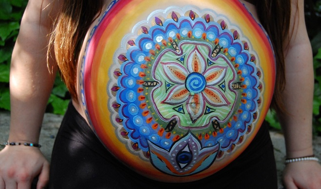 arte-barriga-gravidez-indiana