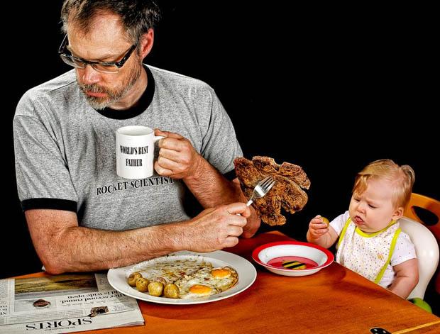 """comendo com sua filha """"melhor pai do mundo"""""""