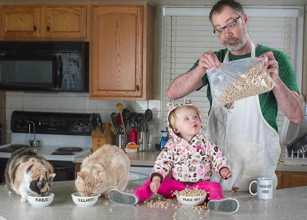 """café da manhã com sua filha """"melhor pai do mundo"""""""